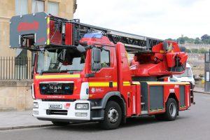 MAN Rosenbauer/Metz drejestige. Avon Fire & Rescue Service. Foto: Henning Svensson.