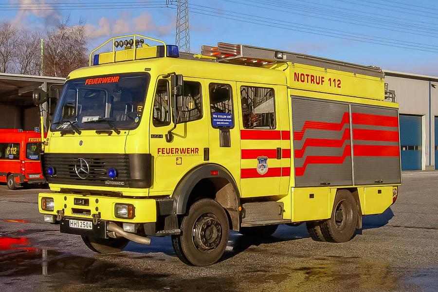 HH 2504, den gule sprøjte fra Hamburg var et af syv identiske køretøjer. Foto: Tony Frimodt.