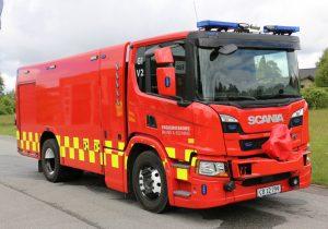 Tankvogn V2 i Gilleleje er et af de mange nye køretøjer, der er tilgået Frederiksborg Brand og Redning. Foto: Henning Svensson.
