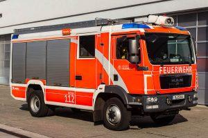 MAN/Rosenbauer 4x4 autosprøjte. Vognen ses her på FW Mahrzan. Den kører i dag fra FW Köpenick. Foto: Tony Frimodt.